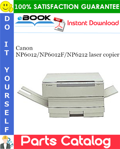 Canon NP6012/NP6012F/NP6212 laser copier Parts Catalog Manual