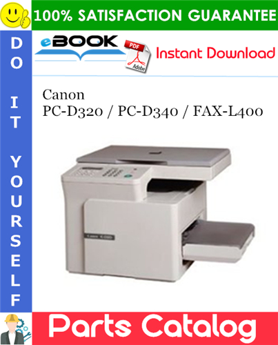 Canon PC-D320 / PC-D340 / FAX-L400 Parts Catalog Manual