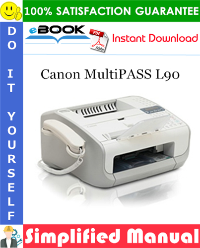 Canon MultiPASS L90 Parts Catalog Manual