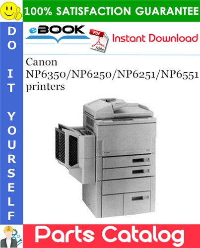 Canon NP6350/NP6250/NP6251/NP6551 printers Parts Catalog Manual