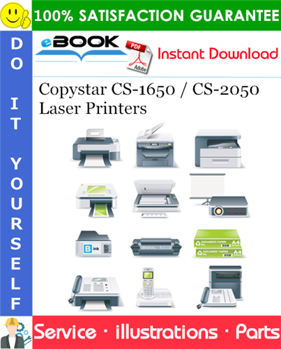 Copystar CS-1650 / CS-2050 Laser Printers Parts Manual (Includes: DP-410, PF-410, JS-410, DF-410)