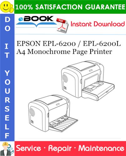 EPSON EPL-6200 / EPL-6200L A4 Monochrome Page Printer Service Repair Manual
