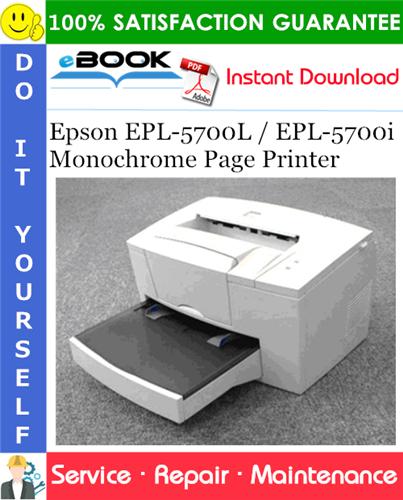 Epson EPL-5700L / EPL-5700i Monochrome Page Printer Service Repair Manual
