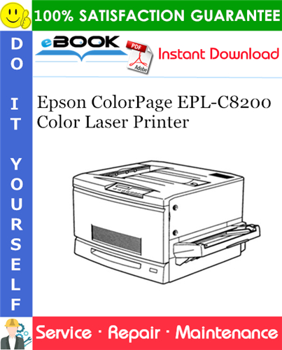 Epson ColorPage EPL-C8200 Color Laser Printer Service Repair Manual