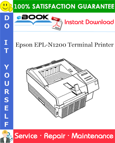 Epson EPL-N1200 Terminal Printer Service Repair Manual