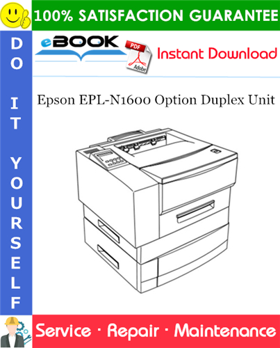 Epson EPL-N1600 Option Duplex Unit Service Repair Manual