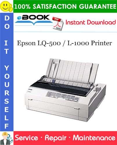Epson LQ-500 / L-1000 Printer Service Repair Manual