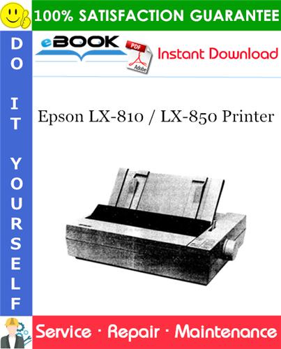 Epson LX-810 / LX-850 Printer Service Repair Manual