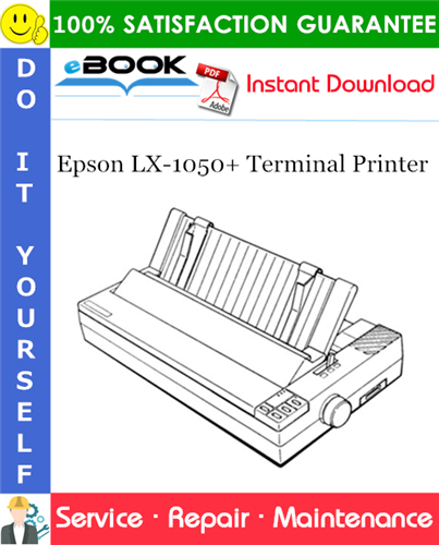 Epson LX-1050+ Terminal Printer Service Repair Manual