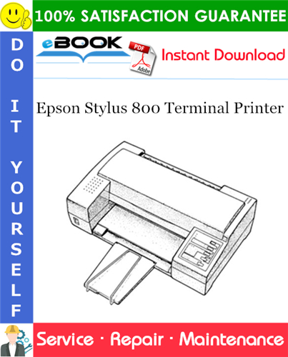 Epson Stylus 800 Terminal Printer Service Repair Manual