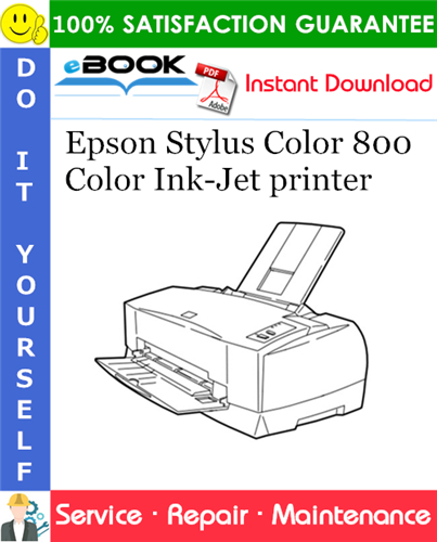 Epson Stylus Color 800 Color Ink-Jet printer Service Repair Manual