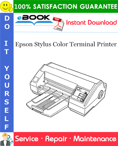 Epson Stylus Color Terminal Printer Service Repair Manual