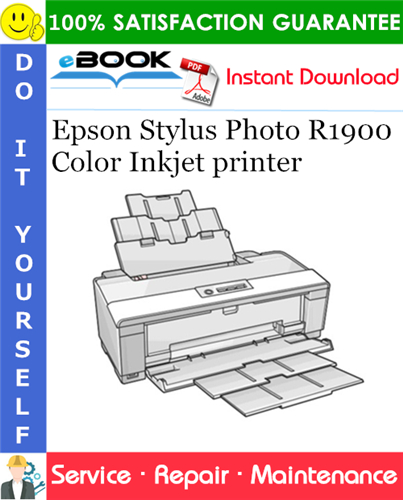 Epson Stylus Photo R1900 Color Inkjet printer Service Repair Manual