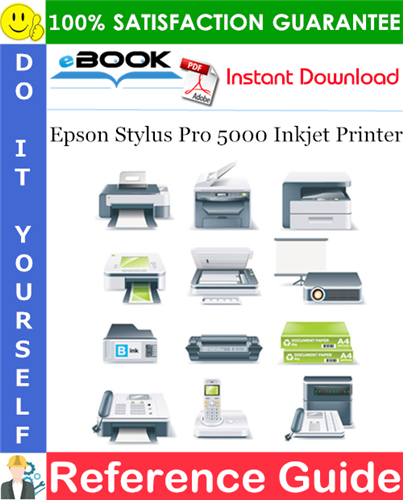 Epson Stylus Pro 5000 Inkjet Printer Setup Guide and Reference Guide Supplement