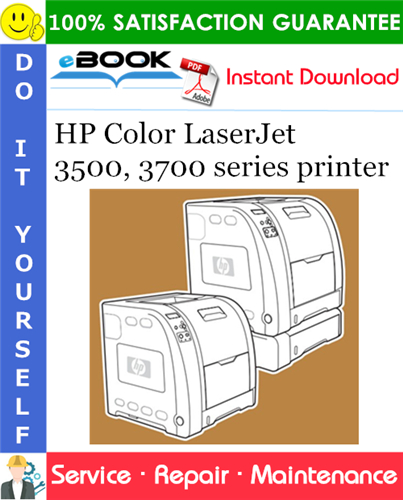 HP Color LaserJet 3500, 3700 series printer Service Repair Manual