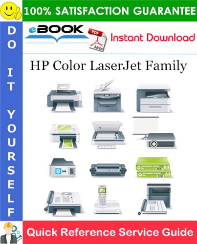 HP Color LaserJet Family Quick Reference Service Guide