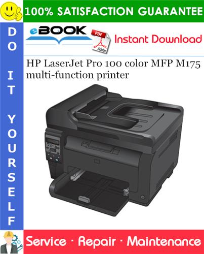 HP LaserJet Pro 100 color MFP M175 multi-function printer Service Repair Manual