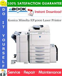 Konica Minolta EP4000 Laser Printer Service Repair Manual + Parts Catalog