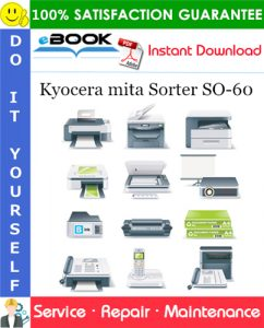 Kyocera mita Sorter SO-60 Service Repair Manual + Parts Catalog
