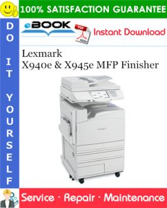 Lexmark X940e & X945e MFP Finisher Service Repair Manual