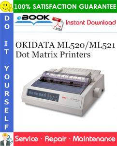 OKIDATA ML520/ML521 Dot Matrix Printers Service Repair Manual