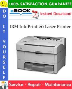 IBM InfoPrint 20 Laser Printer Service Repair Manual