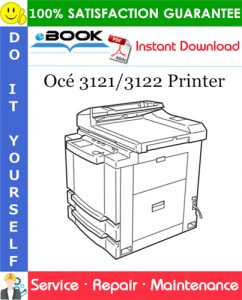 Océ 3121/3122 Printer Service Repair Manual