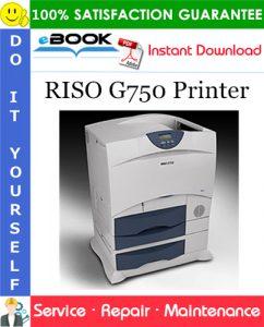 RISO G750 Printer Service Repair Manual