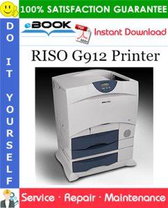 RISO G912 Printer Service Repair Manual