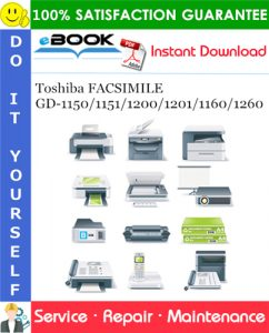 Toshiba FACSIMILE GD-1150/1151/1200/1201/1160/1260 Service Repair Manual