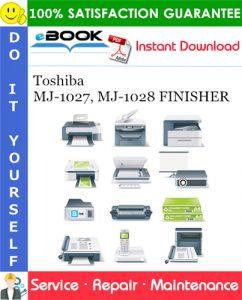 Toshiba MJ-1027, MJ-1028 FINISHER Service Repair Manual