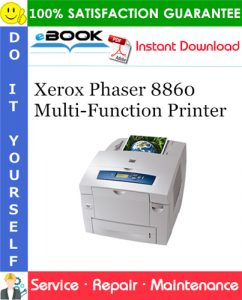 Xerox Phaser 8860 Multi-Function Printer Service Repair Manual
