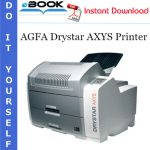 AGFA Drystar AXYS Printer Service Repair Manual
