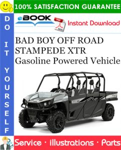 BAD BOY OFF ROAD STAMPEDE XTR Gasoline Powered Vehicle Parts Manual