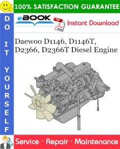 Daewoo D1146, D1146T, D2366, D2366T Diesel Engine Service Repair Manual