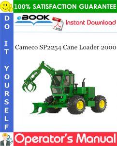 Cameco SP2254 Cane Loader 2000 Operator's Manual